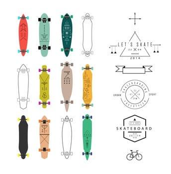 Longboard Deck - unterschiedliche Formen